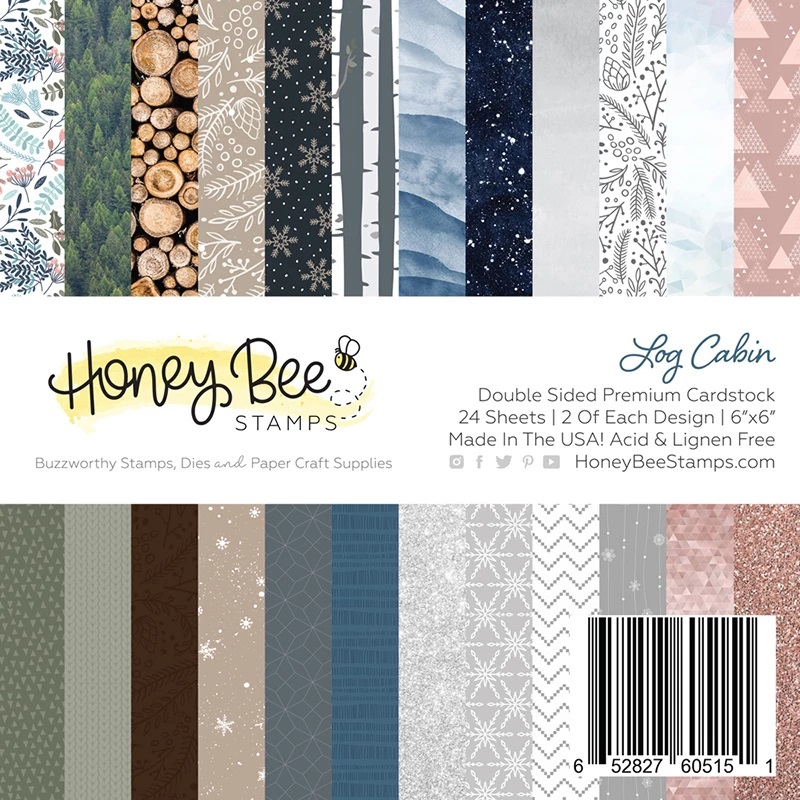 Honey Bee - Log Cabin | 6x6 Paper Pad | 24 Double Sided Sheets