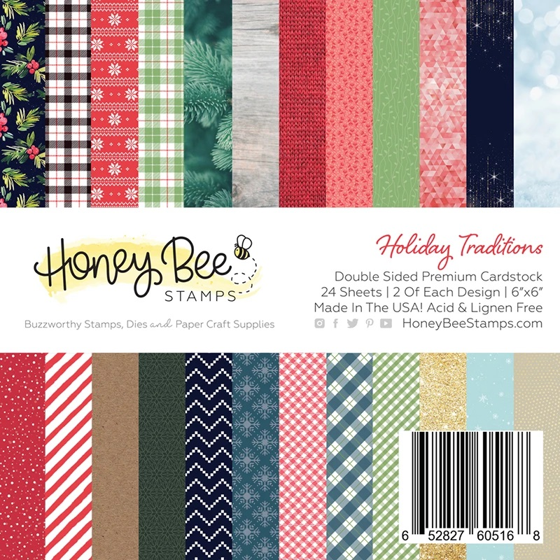 *NEW* - Honey Bee - Holiday Traditions | 6x6 Paper Pad | 24 Double Sided Sheets