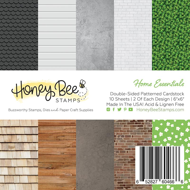 *NEW* - Honey Bee - Home Essentials | 6x6 Specialty Cardstock Paper Pack