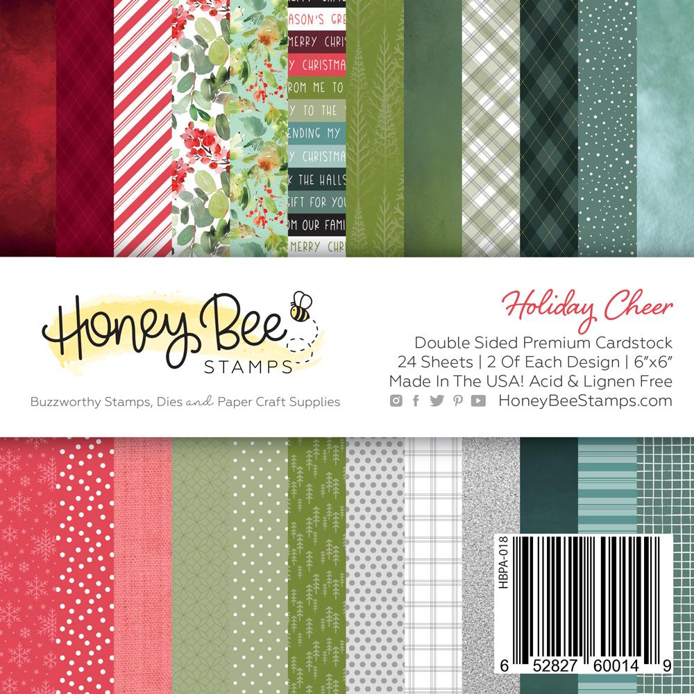 *NEW* - Honey Bee - Paper Pad 6x6 | 24 Double Sided Sheets | Holiday Cheer