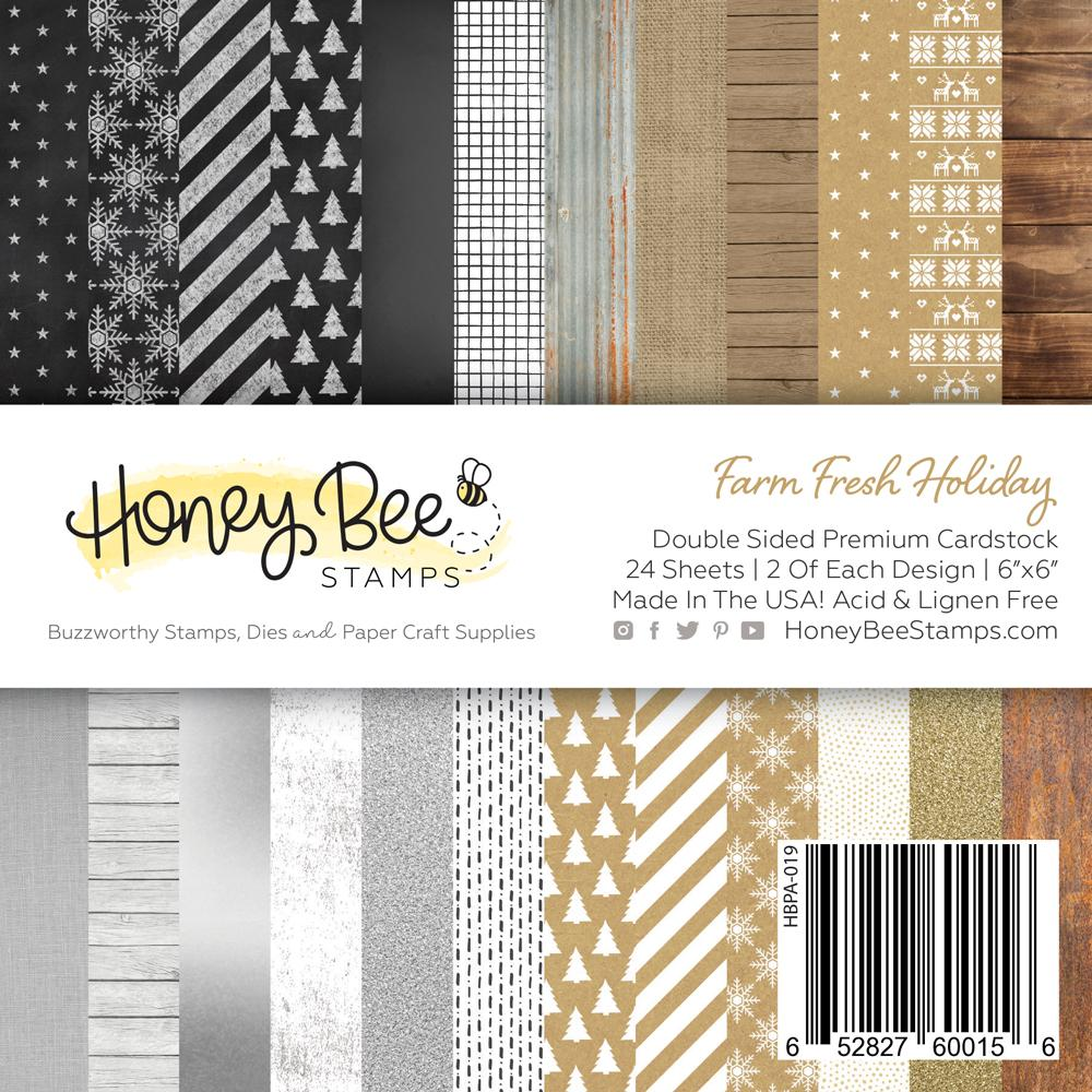 *NEW* - Honey Bee - Paper Pad 6x6 | 24 Double Sided Sheets | Farm Fresh Holiday