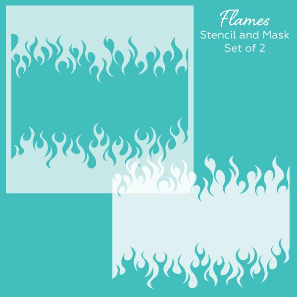 *NEW* - Honey Bee - Flames | Stencil and Mask | Set of 2