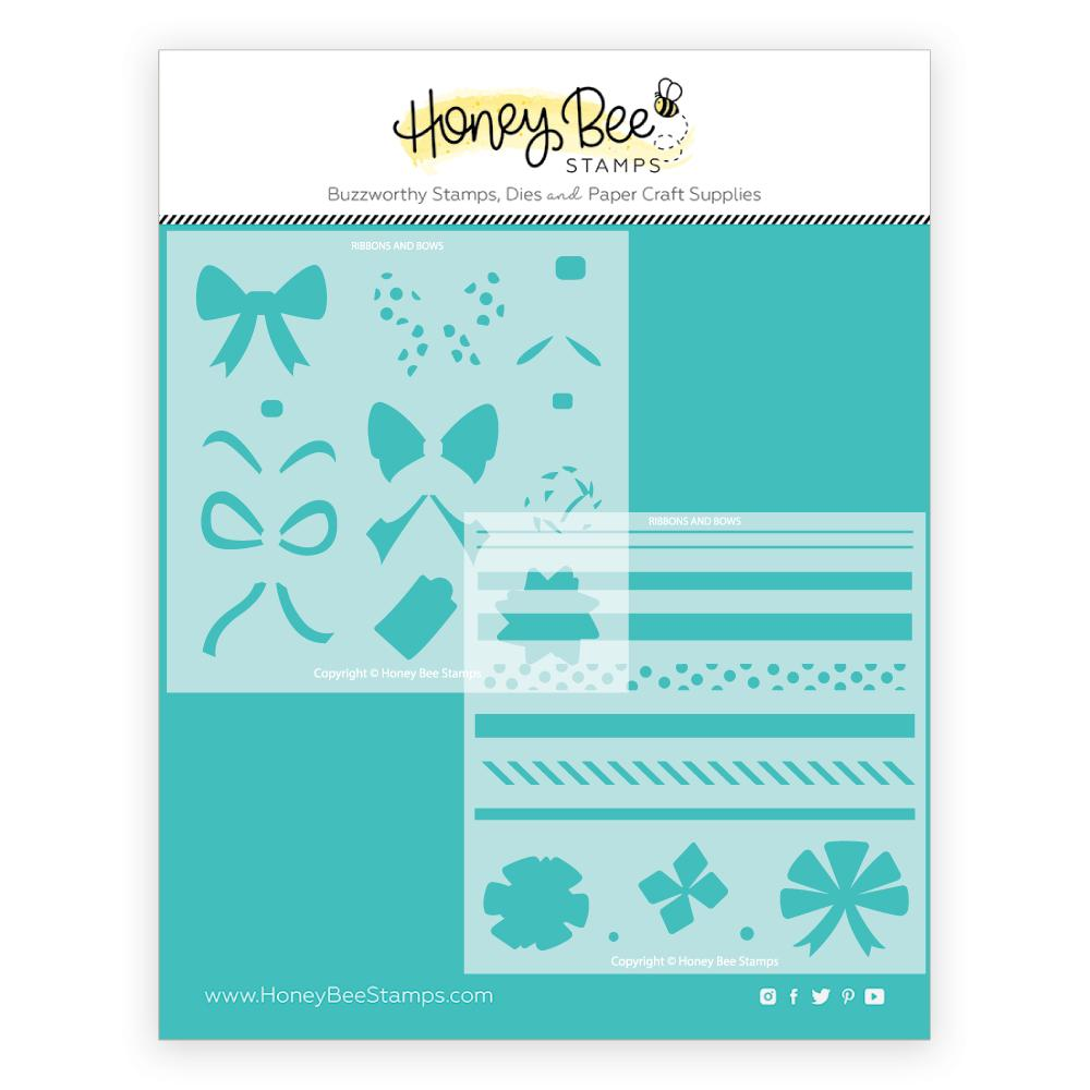 *NEW* - Honey Bee - Ribbons and Bows | Stencils | Set of 2