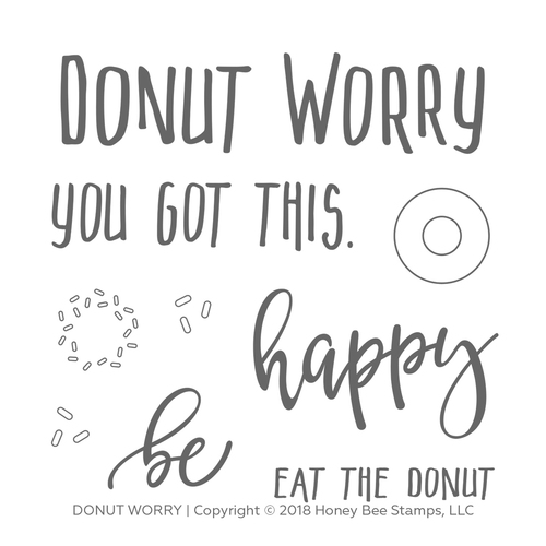 Honey Bee - Donut Worry | 4x4 Stamp Set