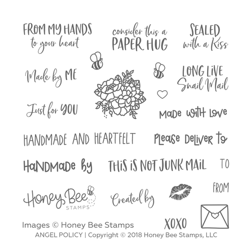 Honey Bee - Angel Policy | 4x4 Stamp Set