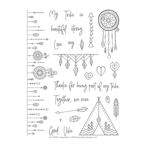 *NEW* - Honey Bee - My Tribe | 6x8 Stamp Set