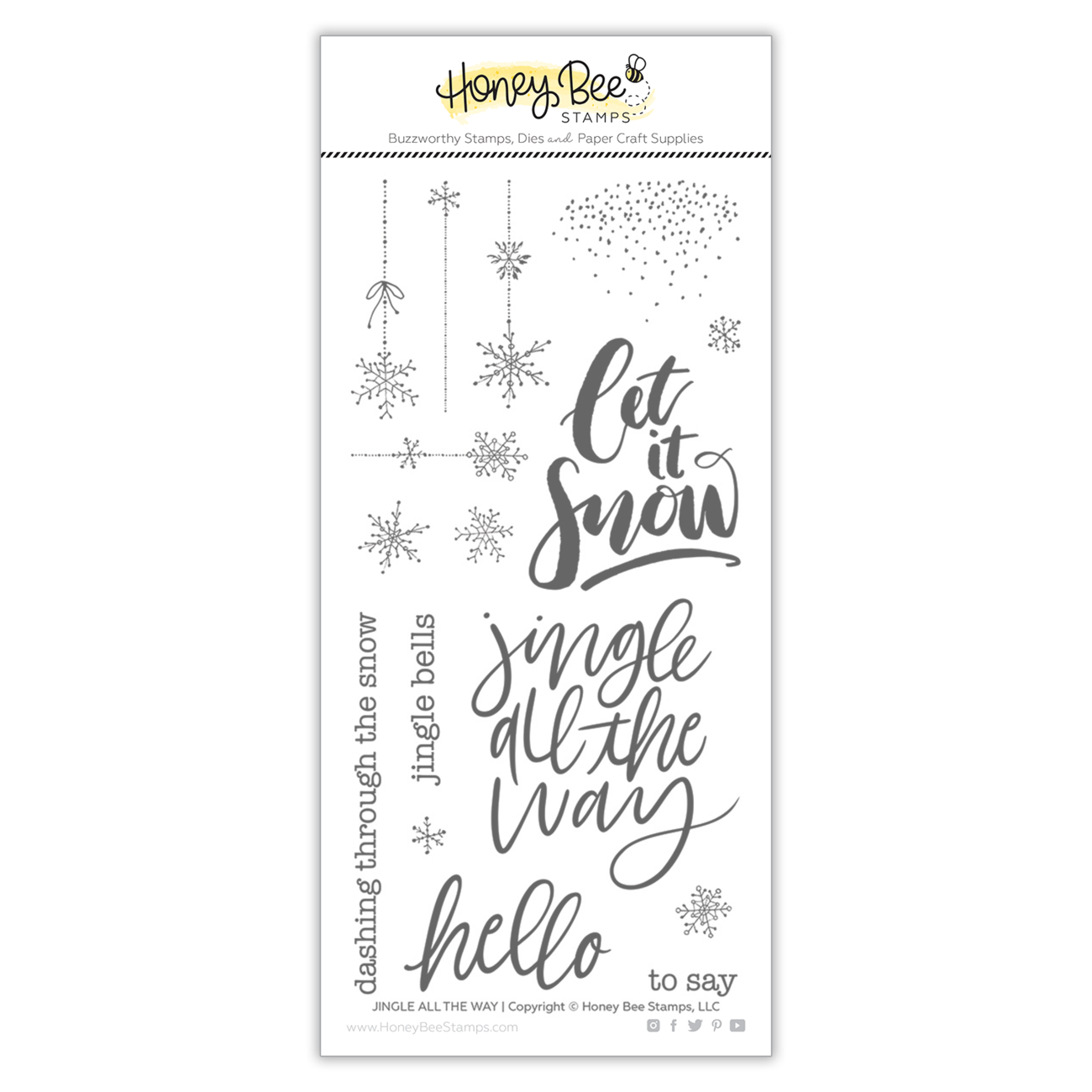 Honey Bee - Jingle All The Way | 4x8 Stamp Set
