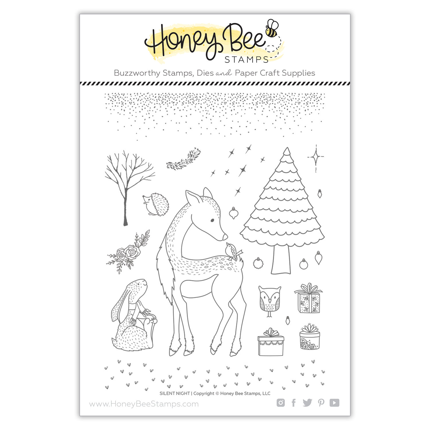 Honey Bee - Silent Night | 6x8 Stamp Set