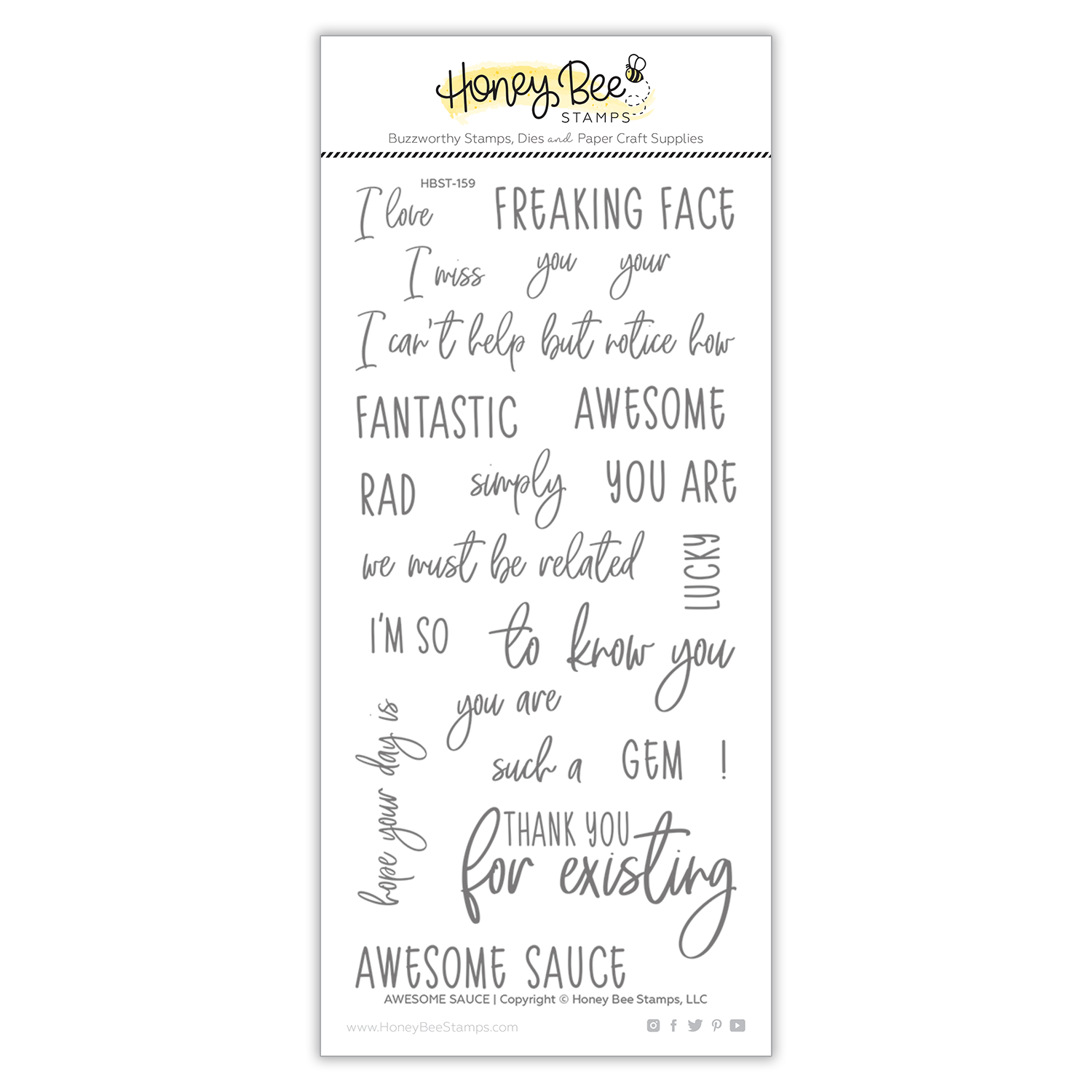 *NEW* - Honey Bee - Awesome Sauce | 4x8 Stamp Set