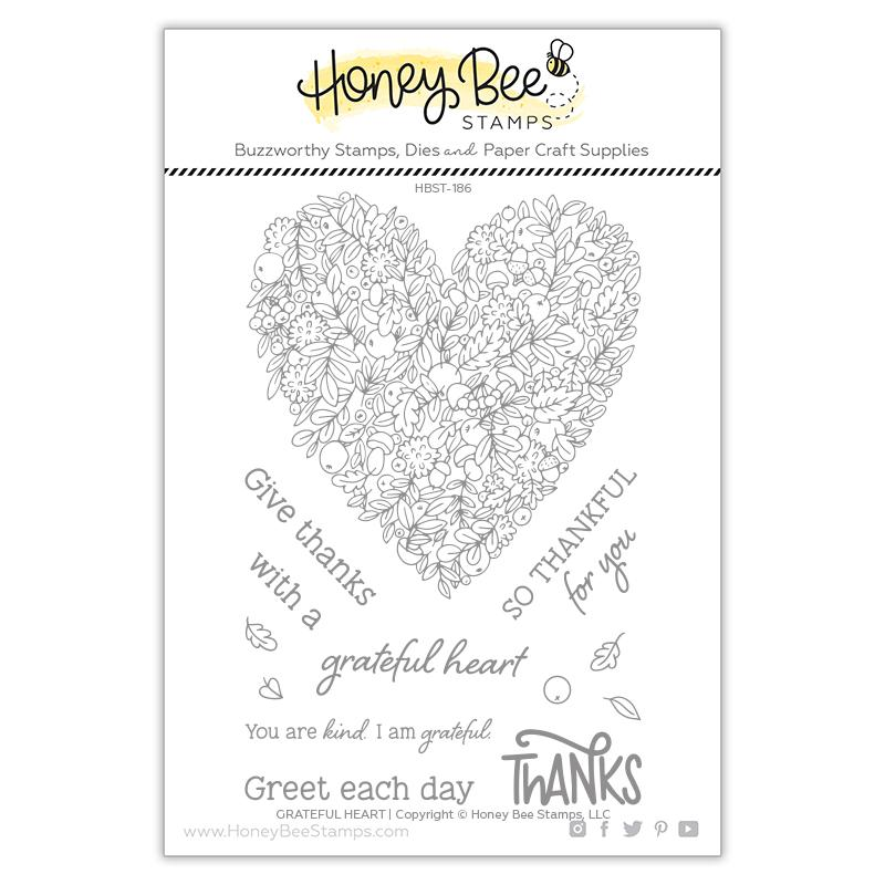 Honey Bee - Grateful Heart | 4x6 Stamp Set