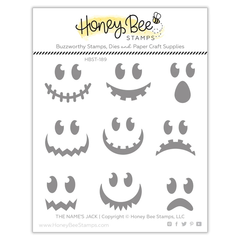 Honey Bee - The Name's Jack | 4x4 Stamp Set