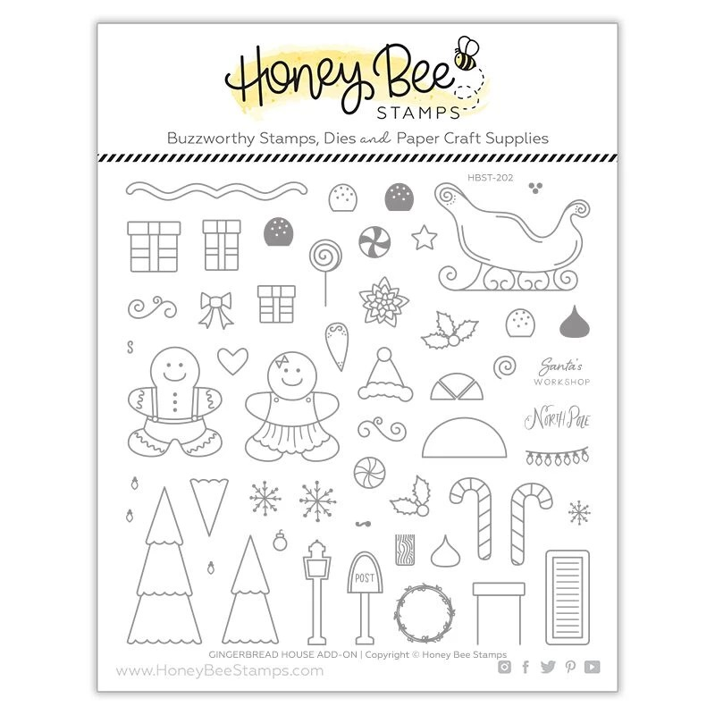 Honey Bee - Gingerbread House Add-On | 6x6 Stamp Set