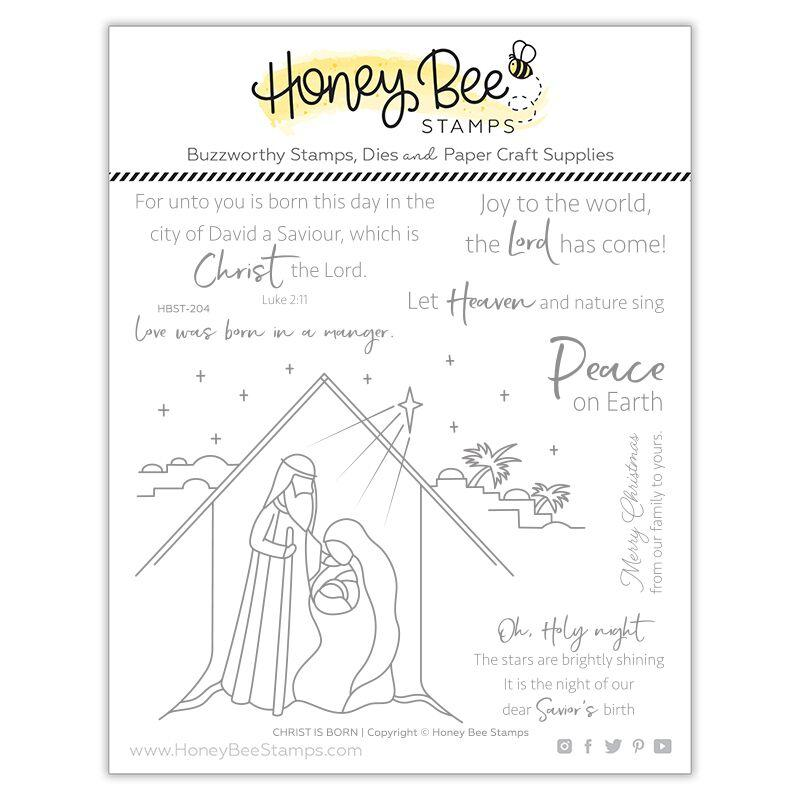 *NEW* - Honey Bee - Christ Is Born | 6x6 Stamp Set