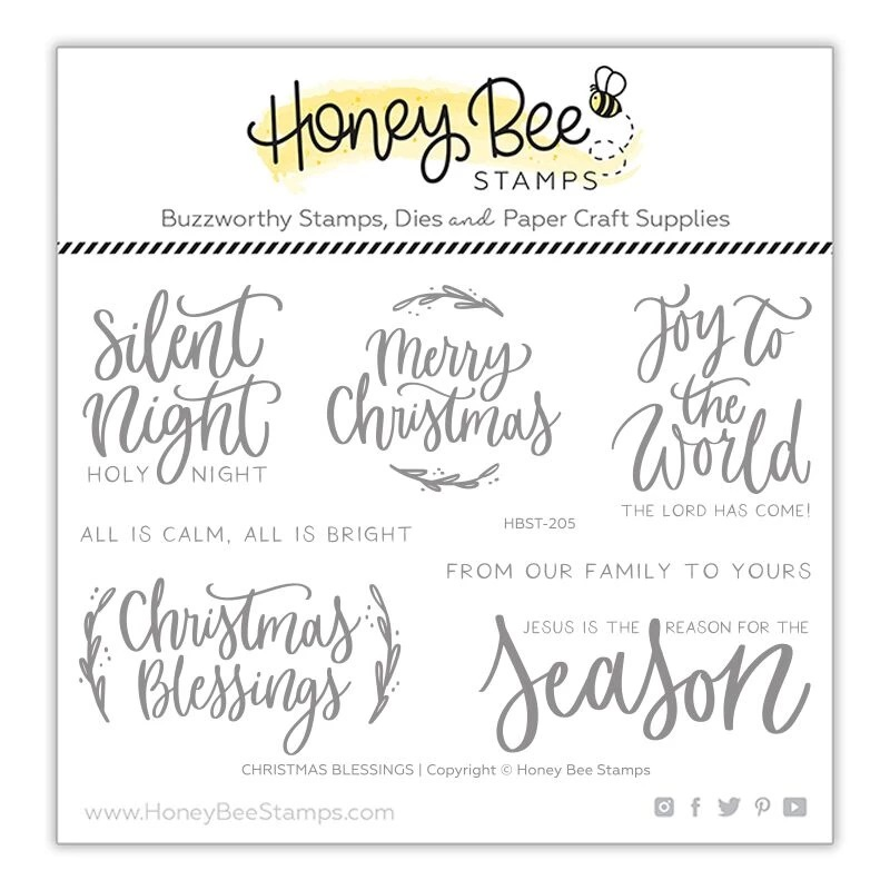 Honey Bee - Christmas Blessings | 4x6 Stamp Set