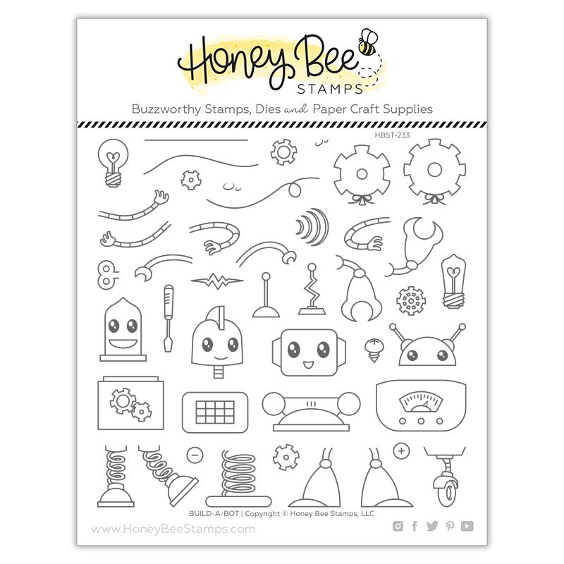 Honey Bee - Build-A-Bot | 6x6 Stamp Set