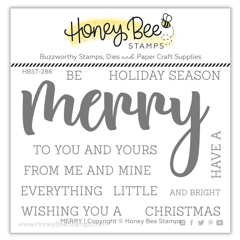 *NEW* - Honey Bee - Merry | 3x4 Stamp Set