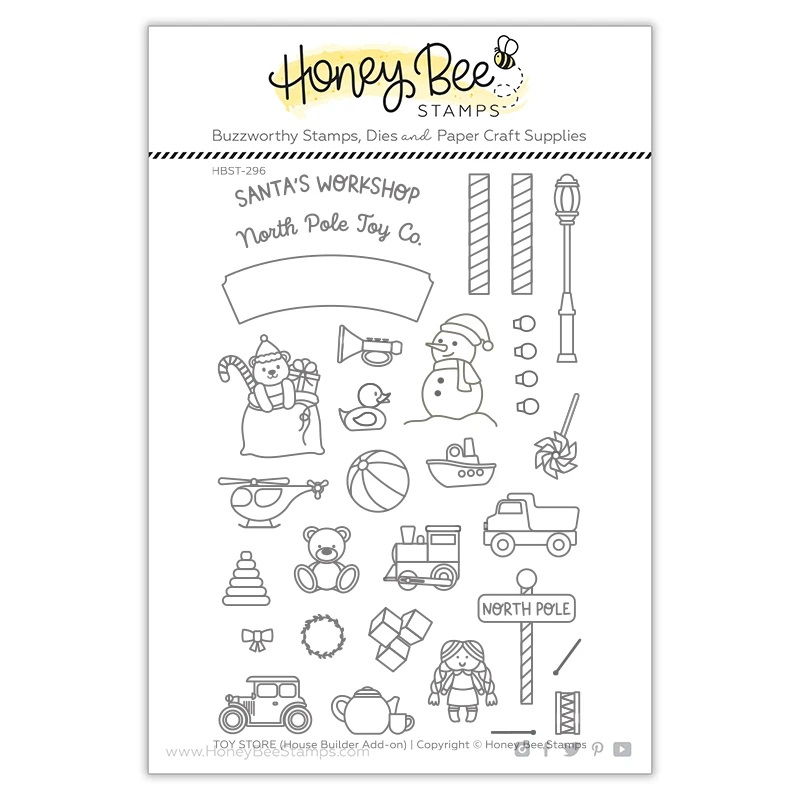*NEW* - Honey Bee - Toy Store House Builder Add-on | 4x6 Stamp Set