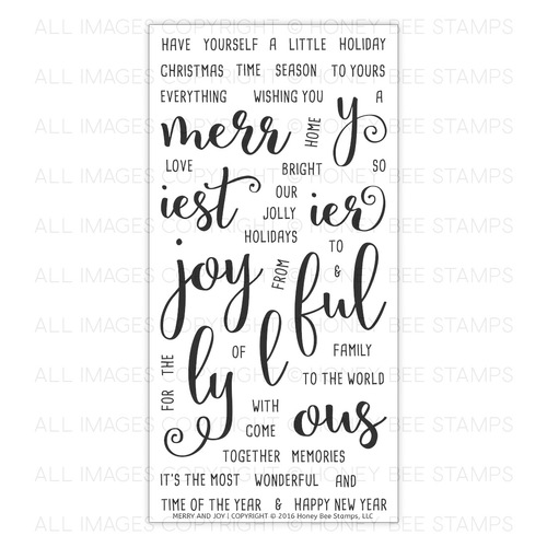 *NEW* - Honey Bee Stamps - Merry and Joy | 4x8 Stamp Set