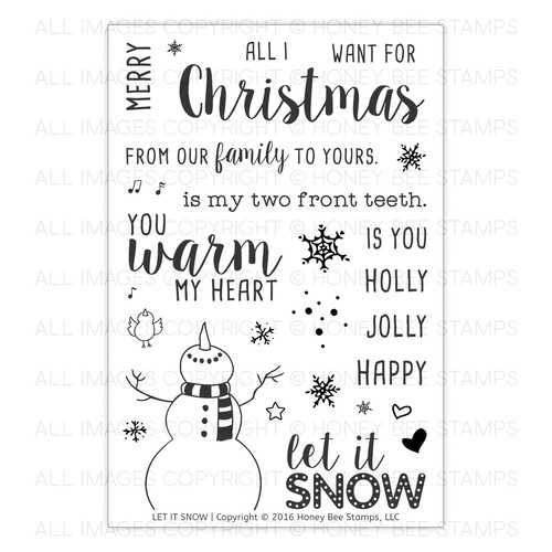 *NEW* - Honey Bee Stamps - Let It Snow | 4x6 Stamp Set