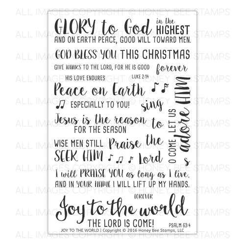 *NEW* - Honey Bee Stamps - Joy To The World | 4x6 Stamp Set