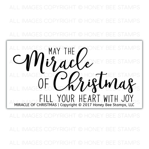 *NEW* - Honey Bee Stamps - Miracle of Christmas | 2x4 Stamp Set