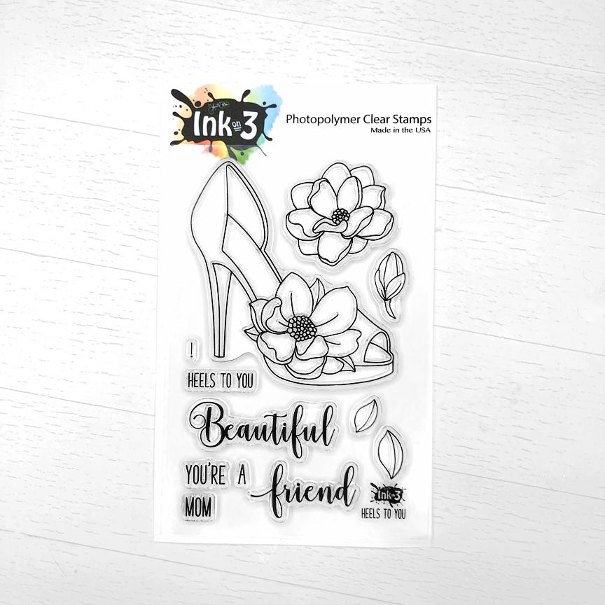 Ink On 3 - Heels To You 4x6 Clear Stamp Set