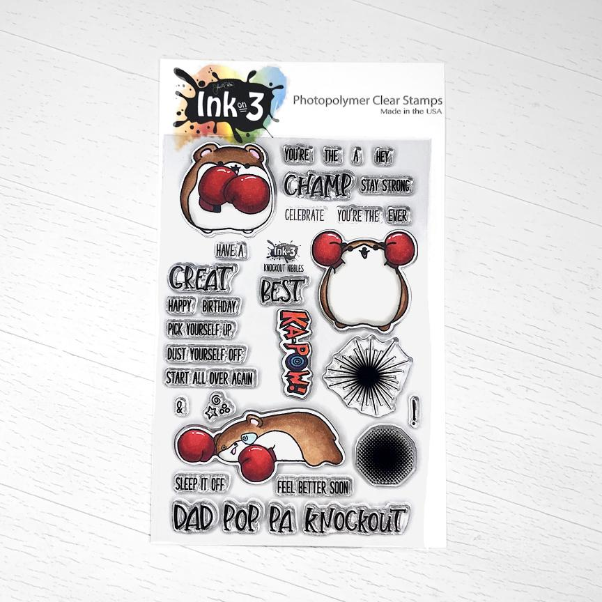 Ink On 3 - Knockout Nibbles 4x6 Clear Stamp Set