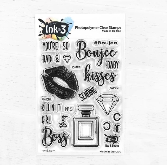 *NEW* - Ink On 3 - Bad & Boujee 3x4 Clear Stamp Set