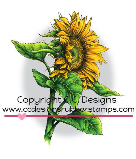 *NEW* - CC Designs - DoveArt Studios Sunflower Rubber Stamp