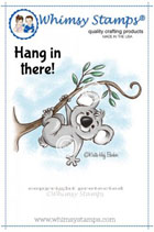 #Whimsy Stamps - Hanging in There - Krista Heij-Barber