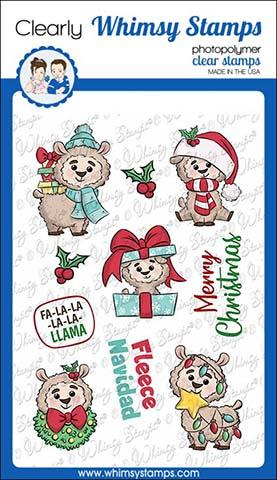 Whimsy Stamps - Fa La La Llama Clear Stamps