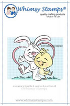 #Whimsy Stamps - Friendship Bunny and Chick - Krista Heij-Barber