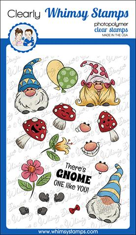 Whimsy Stamps - Gnomies Clear Stamps