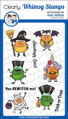 Whimsy Stamps - Candy Corn Dress Up Clear Stamps