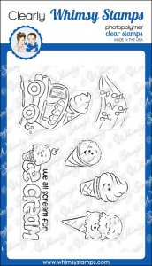 * Whimsy Stamps - Ice Cream Truck - Clear Stamps