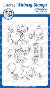 * Whimsy Stamps - Snappy Birthday - Clear Stamps