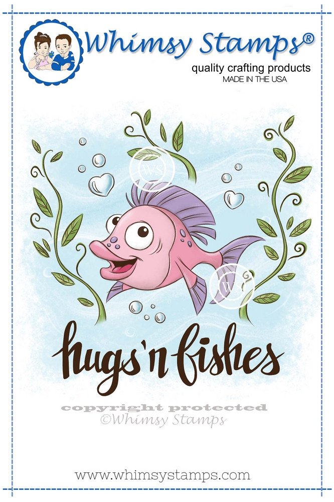Whimsy Stamps - Hugs 'n Fishes - Krista Heij-Barber