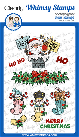 # Whimsy Stamps - Santa and Stockings Clear Stamps