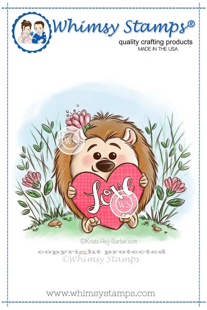 #Whimsy Stamps - Hedgehog Love - Krista Heij-Barber Collection