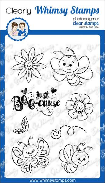 ###Whimsy Stamps - Bee-cause Clear Stamps