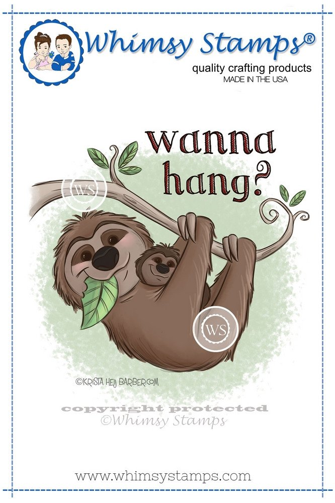*NEW* - Whimsy Stamps - Hangin' Sloth