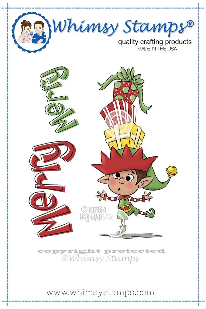 *NEW* - Whimsy Stamps - Balancing Elf