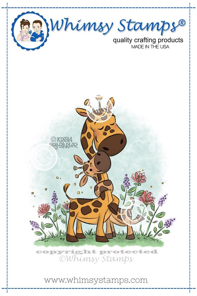 *NEW* - Whimsy Stamps - Giraffe Baby Love