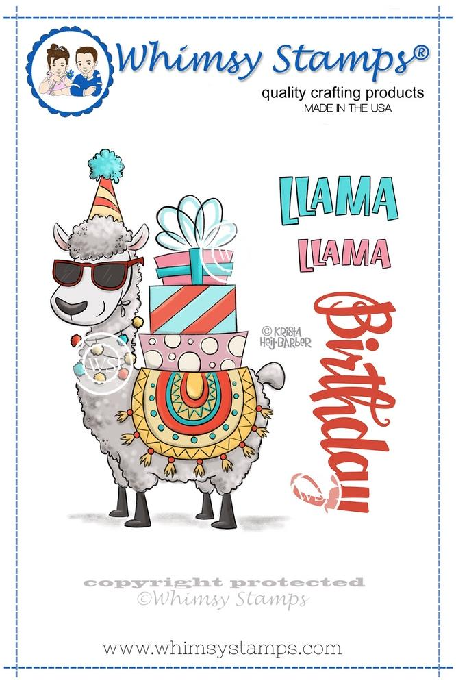 *NEW* - Whimsy Stamps - Llama Birthday
