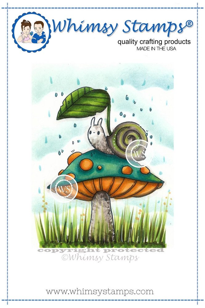 *NEW* - Whimsy Stamps - Can You Beleaf This Rain