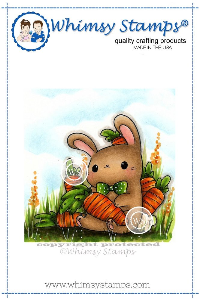 *NEW* - Whimsy Stamps - Hungry Bunny