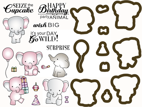 *NEW* - LDRS Creative - Go Wild - Stamps & Dies