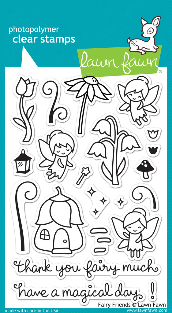 Lawn Fawn- Stamps - Fairy Friends