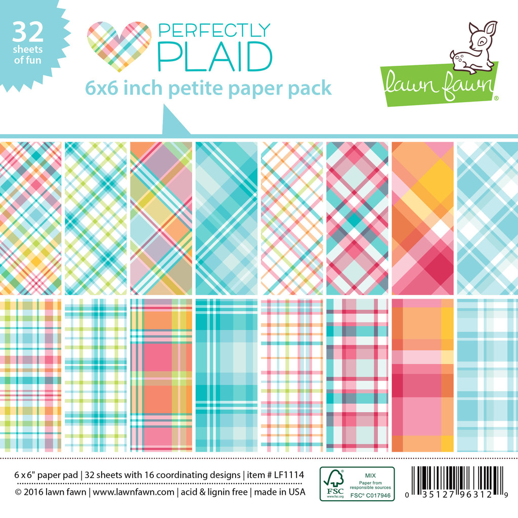 Lawn Fawn- Perfectly Plaid  - Petite Paper Pack