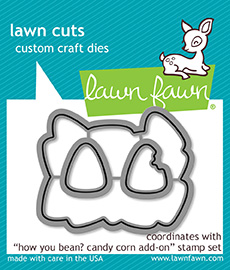 * NEW * - Lawn Fawn - how you bean? candy corn add-on lawn cuts